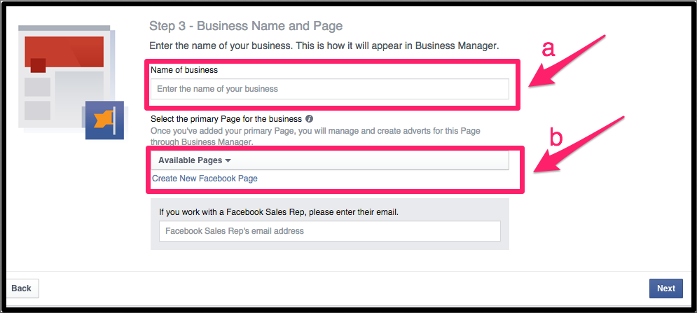 how to create facebook business page step by step